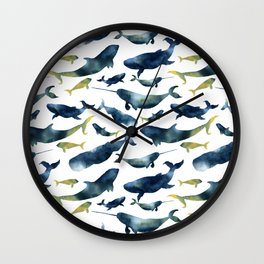 Dreams of whales Wall Clock