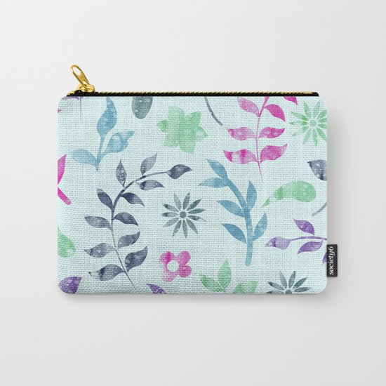 Seamless Flower Pattern Carry-All Pouch