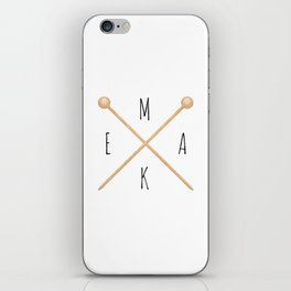 MAKE  |  Knitting Needles iPhone Skin