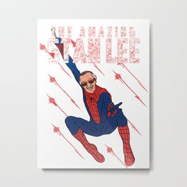 Stan Lee - Man of many faces Metal Print