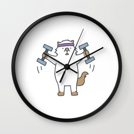 Workout Moo Wall Clock