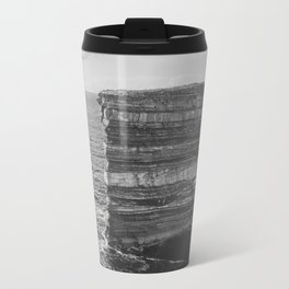 Dun Briste II Black and White Travel Mug