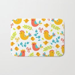 Easter Little Peeps Baby Chicks Pattern Bath Mat