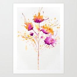 Blot Flowers Art Print