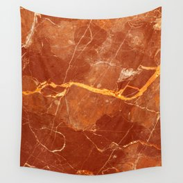Red marble pattern Wall Tapestry