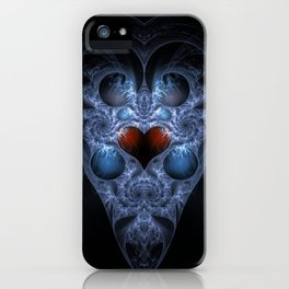 Fractal Art - Alien Heart iPhone Case