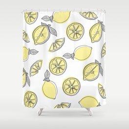 lemon squeezy Shower Curtain