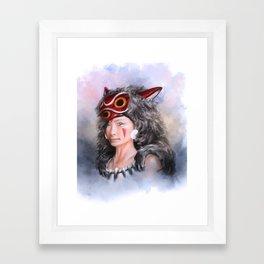 Portrait of a Princess Framed Art Print