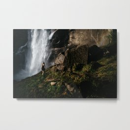 Vernal Waterfall Metal Print