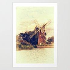 Hunsett drainage mill Art Print