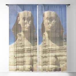 Sphinx  and Pyramid Sheer Curtain