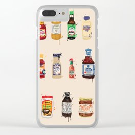 Condiment Crazy Clear iPhone Case