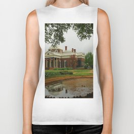 Morning At Monticello - Jeffersons Home Biker Tank
