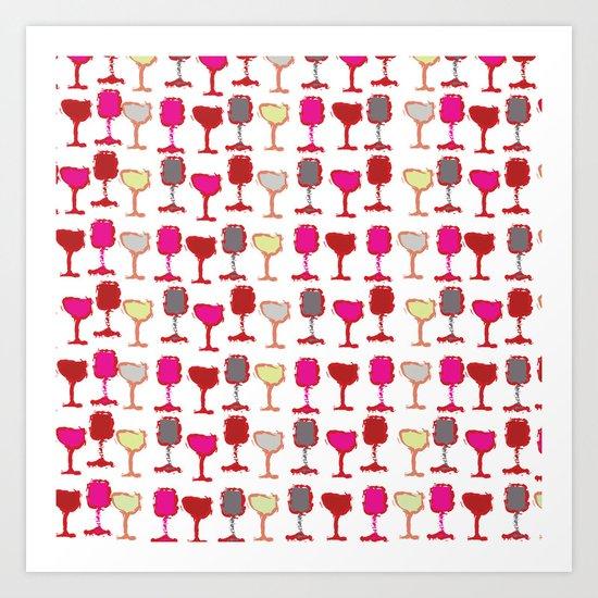 Wine Down Art Print