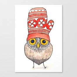 mitten owl Canvas Print