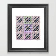 Holographic pink pattern Framed Art Print