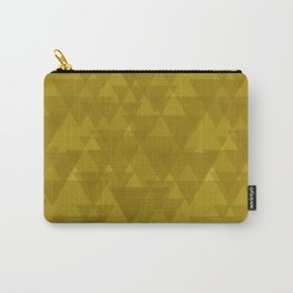 Gentle mustard triangles in the intersection and overlay. Carry-All Pouch