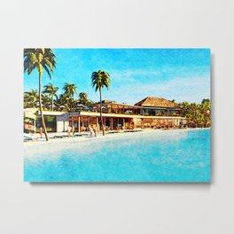Hotel and Resort in Maldives Metal Print