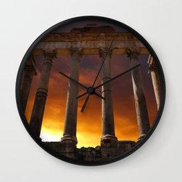 Temple of Saturn Ruins Wall Clock