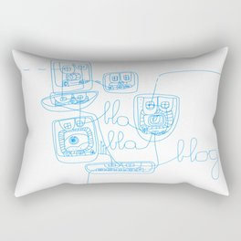 BLA BLA  Rectangular Pillow