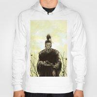 samurai Hoodies featuring Samurai by Tony Vazquez