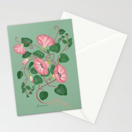 Morning glory botanical Stationery Cards