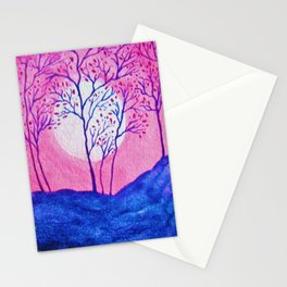 Pink Asian Cherry Tree Stationery Cards