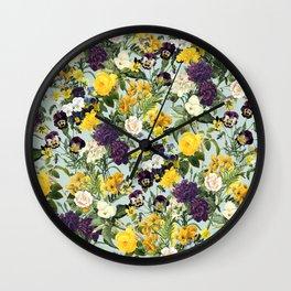 Floral C Wall Clock