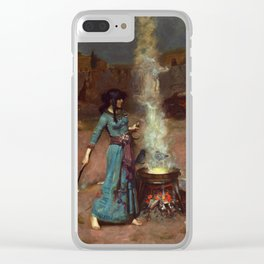 The Magic Circle John William Waterhouse Painting Clear iPhone Case