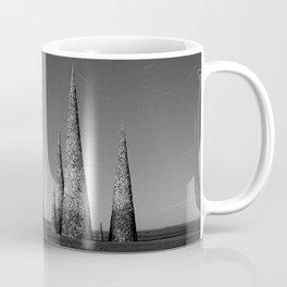 Grey black cones 4 Coffee Mug
