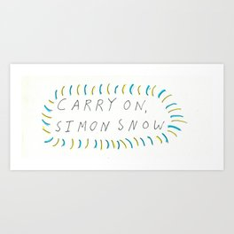 Carry On, Simon Snow Art Print