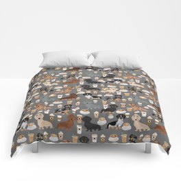 Dachshund coffee lover must have pet gifts dachsie doxie dog weener dog Comforters