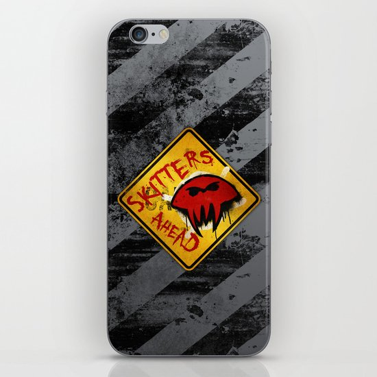 Caution: Skitters Ahead (Falling Skies) iPhone & iPod Skin