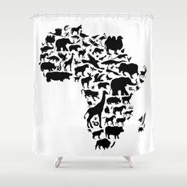 Animals of Africa Shower Curtain