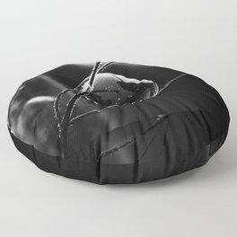 Captured Galaxy in B&W Floor Pillow
