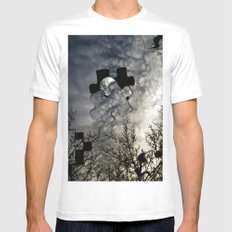 Sky Surrealism. Mens Fitted Tee MEDIUM White