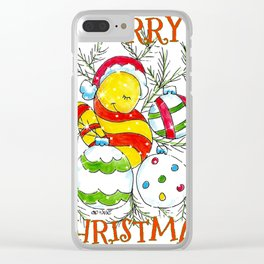 """Merry Christmas Ornaments"" Clear iPhone Case"
