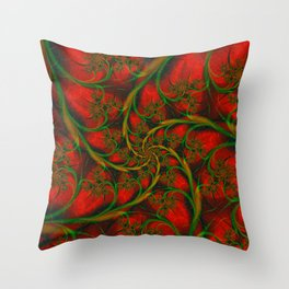Rose Vines Throw Pillow