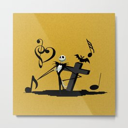 Jack Skellington Metal Print