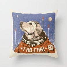 Soviet Space Dog Throw Pillow