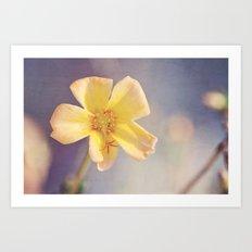 A Little Yellow Flower Art Print