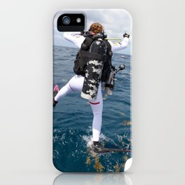 Scuba Diver Jump iPhone Case