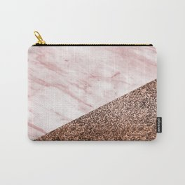 Golden age - elegant pink marble Carry-All Pouch