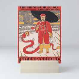 Affiche october scribners   the chinese must go. 1895  Mini Art Print