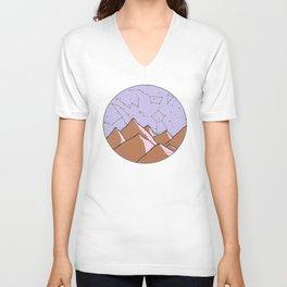 Constellation Mountains Unisex V-Neck
