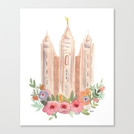 SLC LDS temple Canvas Print