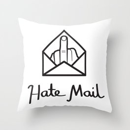 hate mail Throw Pillow