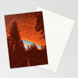 Two Lanes in the Fall Stationery Cards