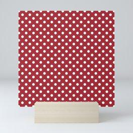 Samba Red Polka Dots Mini Art Print