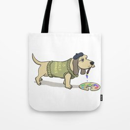 A Painting Dog Tote Bag